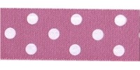10mm Berisfords Polka Dot Ribbon HOT PINK 52 (20 metre reel)
