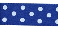 10mm Berisfords Polka Dot Ribbon DARK ROYAL 243 (20 metre reel)