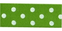 10mm Berisfords Polka Dot Ribbon MEADOW 664 (20 metre reel)