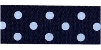 10mm Berisfords Polka Dot Ribbon NAVY 13 (20 metre reel)