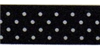 10mm Berisfords Micro Dot Ribbon BLACK 10 (20 metre reel)