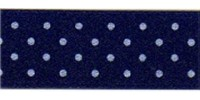 10mm Berisfords Micro Dot Ribbon NAVY 13 (20 metre reel)
