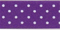 10mm Berisfords Micro Dot Ribbon PURPLE 19 (20 metre reel)