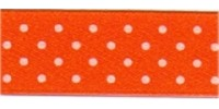 10mm Berisfords Micro Dot Ribbon ORANGE DELIGHT 42 (20 metre reel)
