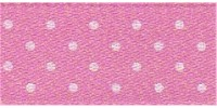 10mm Berisfords Micro Dot Ribbon HOT PINK 52 (20 metre reel)