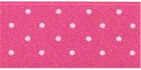 10mm Berisfords Micro Dot Ribbon SHOCKING PINK 72 (20 metre reel)