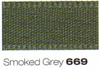 12mm Berisfords Rustic Taffeta Ribbon SMOKED GREY 669  (25 metre Reel)