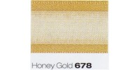 15mm Berisfords Sheer Elegance Ribbon HONEY GOLD 678  (25 metre Reel)