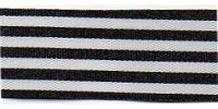 9mm Berisfords Stripes Ribbon BLACK 142 (25 metre reel)