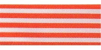 9mm Berisfords Stripes Ribbon ORANGE 1407 (25 metre reel)