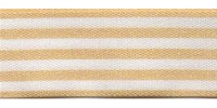 9mm Berisfords Stripes Ribbon BEIGE 3104  (25 metre reel)
