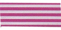 9mm Berisfords Stripes Ribbon fuschia 3815  (25 metre reel)