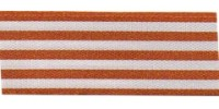 9mm Berisfords Stripes Ribbon RUST 4543  (25 metre reel)