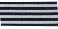 9mm Berisfords Stripes Ribbon NAVY 46 (25 metre reel)