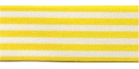 9mm Berisfords Stripes Ribbon YELLOW 106 (25 metre reel)