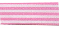 9mm Berisfords Stripes Ribbon PINK 113  (25 metre reel)