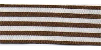 9mm Berisfords Stripes Ribbon BROWN 4003  (25 metre reel)