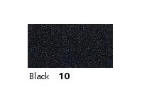 10mm Berisfords Double-Sided Satin Ribbon BLACK 10  (20 metre reel)