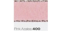 15mm Berisfords Silver Metallic Edge Satin Ribbon PINK AZALEA 400 (20 metre reel)
