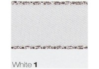 3mm Berisfords Silver Metallic Edge Satin Ribbon WHITE 1 (20 metre reel)