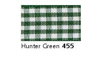 10mm Berisfords Gingham Ribbon HUNTER GREEN 455 (20 metre reel)