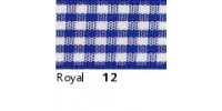 10mm Berisfords Gingham Ribbon ROYAL 12 (20 metre reel)