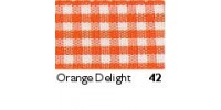 10mm Berisfords Gingham Ribbon ORANGE DELIGHT 42 (20 metre reel)