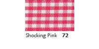10mm Berisfords Gingham Ribbon SHOCKING PINK72 (20 metre reel)
