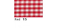 10mm Berisfords Gingham Ribbon RED 15 (20 metre reel)