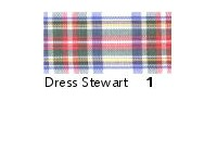 40mm Berisfords Woven Tartan Ribbon DRESS STEWART 1 (25 metre reel)