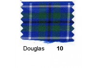10mm Berisfords Woven Tartan Ribbon DOUGLAS 10  (25 metre reel)
