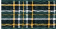 7mm Berisfords Woven Tartan Ribbon IRISH NATIONAL  (25 metre reel)
